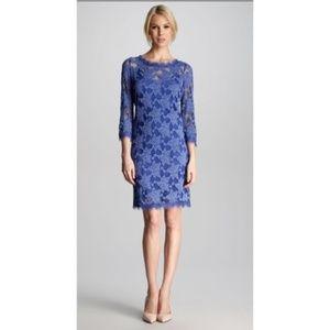 Rebecca Taylor Lace Shift Dress Periwinkle 8